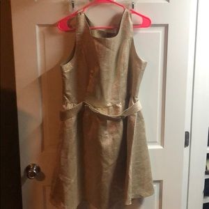 Gold Lauren Conrad dress